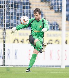 Dumbarton's goalkeeper Jamie Ewings.<br /> Falkirk 1 v 2 Dumbarton, Scottish Championship game played today at the Falkirk Stadium.<br /> ©Michael Schofield.