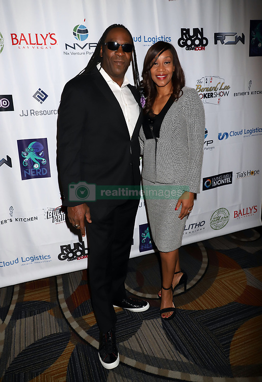 "Booker T, Sharmel Huffman arriving for the One Step Closer ""All In For CP"" celebrity charity poker event held at Ballys Poker Room, Ballys Hotel & Casino, Las Vegas, December 9, 2018"