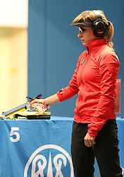 05.09.2015, Olympia Schiessanlage Hochbrueck, Muenchen, GER, ISSF World Cup 2015, Gewehr, Pistole, Damen, 10 Meter Luftpistole, im Bild Olena Kostevych (UKR) // during the women's 10M air Pistol competition of the 2015 ISSF World Cup at the Olympia Schiessanlage Hochbrueck in Muenchen, Germany on 2015/09/05. EXPA Pictures © 2015, PhotoCredit: EXPA/ Eibner-Pressefoto/ Wuest<br /> <br /> *****ATTENTION - OUT of GER*****