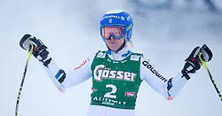 28.12.2014, Hohe Mut, Kühtai, AUT, FIS Ski Weltcup, Kühtai, Riesenslalom, Damen, 2. Durchgang, im Bild Jessica Lindell-Vikarby (SWE) // Jessica Lindell-Vikarby of Sweden reacts after 2nd run of Ladies Giant Slalom of the Kuehtai FIS Ski Alpine World Cup at the Hohe Mut Course in Kuehtai, Austria on 2014/12/28. EXPA Pictures © 2014, PhotoCredit: EXPA/ JFK