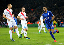 Riyad Mahrez of Leicester City  celebrates after scoring his sides second goal   - Mandatory by-line: Matt McNulty/JMP - 22/11/2016 - FOOTBALL - King Power Stadium - Leicester, England - Leicester City v Club Brugge - UEFA Champions League