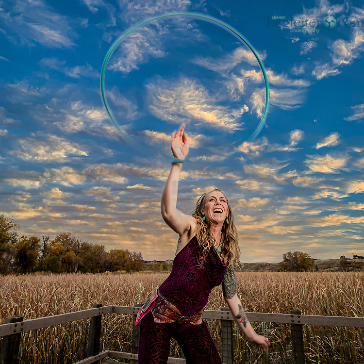 These are images from my series about spirituality and the Hoola Hoop