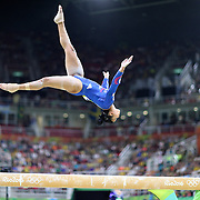 Gymnastics - Olympics: Day 2   Elissa Downie #339 of Great Britain performing her routine on the Balance Beam during the Artistic Gymnastics Women's Team Qualification round at the Rio Olympic Arena on August 7, 2016 in Rio de Janeiro, Brazil. (Photo by Tim Clayton/Corbis via Getty Images)