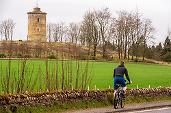 A long walk or a cycle breaks up the day. On the left can be seen Knight's Law Tower which was built between 1748 and 1751 in the Penicuik House estate. <br /> <br /> People are finding ways to cope with the lockdown in Midlothian.