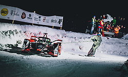 01.02.2020, Flugplatz, Zell am See, AUT, GP Ice Race, im Bild Formel E Audi e-tron, Skijöring // Formel E Audi e-tron, Skijoring during the GP Ice Race at the Airfield, Zell am See, Austria on 2020/02/01. EXPA Pictures © 2020, PhotoCredit: EXPA/ JFK