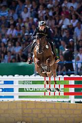 Sandra Auffarth, (GER), Opgun Louvo - Jumping Eventing - Alltech FEI World Equestrian Games™ 2014 - Normandy, France.<br /> © Hippo Foto Team - Leanjo De Koster<br /> 31-08-14