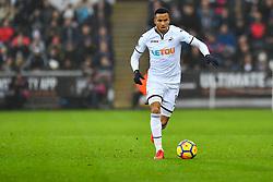 Martin Olsson of Swansea City in action  - Mandatory by-line: Craig Thomas/JMP - 23/12/2017 - FOOTBALL - Liberty Stadium - Swansea, England - Swansea City v Crystal Palace - Premier League