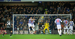 30.12.2012, Loftus Road, London, ENG, Premier League, Queens Park Rangers vs FC Liverpool, 20. Runde, im Bild Liverpool's Daniel Agger scores the third goal against Queens Park Rangers during during the English Premier League 20th round match between Queens Park Rangers and Liverpool FC at Loftus Road, London, Great Britain on 2012/12/30. EXPA Pictures © 2012, PhotoCredit: EXPA/ Propagandaphoto/ David Rawcliffe..***** ATTENTION - OUT OF ENG, GBR, UK *****
