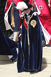 The Duke of Cambridge during the annual Order of the Garter Service at St George's Chapel, Windsor Castle.