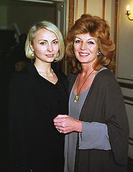 Left to right, actress JOANNA KANSKA and actress RULA LENSKA, at an exhibition in London on 10th June 1999.MTB 3