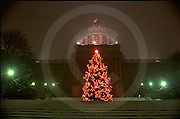 PA Capitol Complex, Harrisburg, outdoor Christmas tree (1990s)