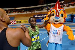 27-02-2016 NED: NK Atletiek Indoor, Apeldoorn<br /> Solomon Bockarie wint de 60 meter