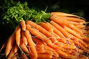 Organic Carrots at a Farmers Market in Newcastle, Australia