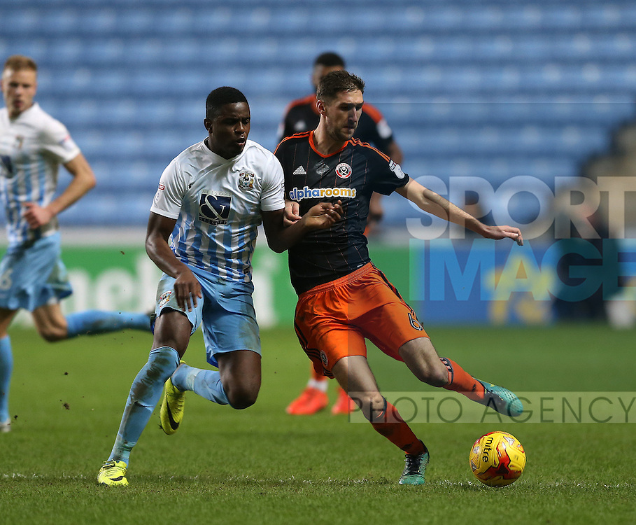 Chris Basham of Sheffield Utd during the English League One match at the Rioch Arena Stadium, Coventry. Picture date: December 15th, 2016. Pic Simon Bellis/Sportimage