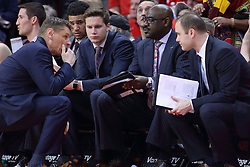 19 February 2017:  Porter Moser during a College MVC (Missouri Valley conference) mens basketball game between the Loyola Ramblers and Illinois State Redbirds in  Redbird Arena, Normal IL