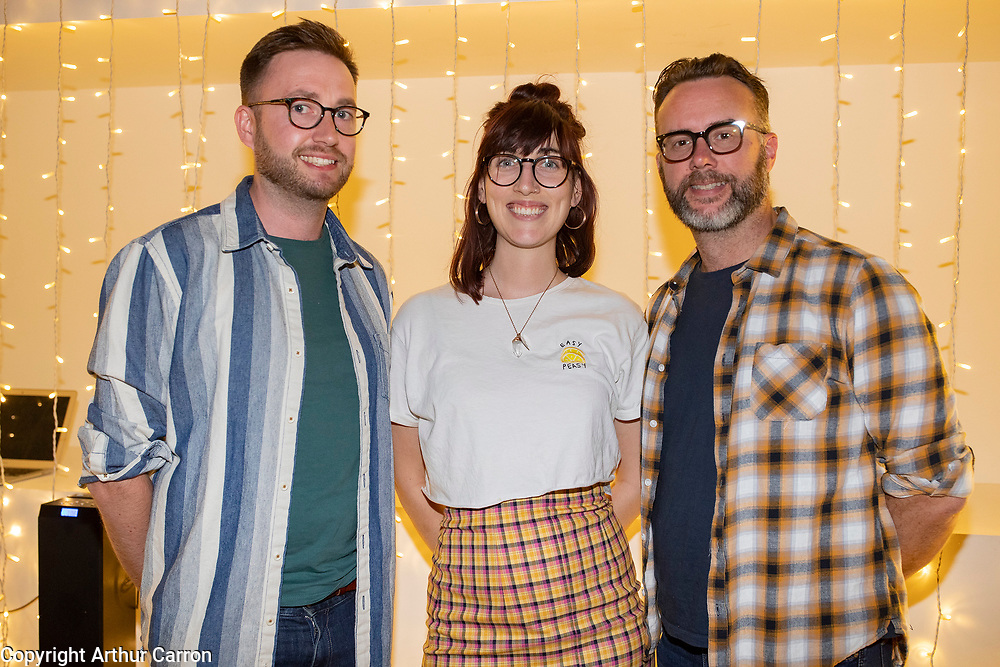 NO FEE PICTURES<br />4/8/19 Eimhin Walsh, Roisin Geraghty and Ian Doyle pictured at the GAZE International LGBT Film Festival at the Lighthouse Cinema in Smithfield, Dublin. Picture: Arthur Carron