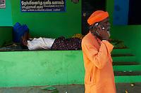 Inde, etat du Tamil Nadu, Madurai, marche aux fleurs // India, Tamil Nadu, Madurai, flower market