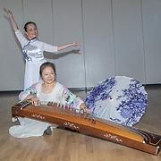 曹美丽 (Cao Mei Li) from China of the Huaying Ancient Rhythm Art Troupe bring Huaying Ancient Rhyme to the Sino-British cultural exchange tour, at Chingford Masonic Hall on 20th September, London, UK.