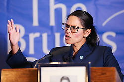 © Licensed to London News Pictures. 30/01/2019. London, UK. Priti Patel MP - Former Secretary of State for International Development speaking at the Bruges Group event focusing on issues of Britain outside the European Union. Photo credit: Dinendra Haria/LNP