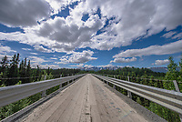 Kuskulana Bridge on the McCarthy Road in Wrangell-St. Elias National Park in McCarthy, Alaska.