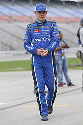 April 6, 2018 - Ft. Worth, Texas, United States of America - April 06, 2018 - Ft. Worth, Texas, USA: Kyle Larson (42) waits to qualify for the O'Reilly Auto Parts 500 at Texas Motor Speedway in Ft. Worth, Texas. (Credit Image: © Stephen A. Arce Asp Inc/ASP via ZUMA Wire)