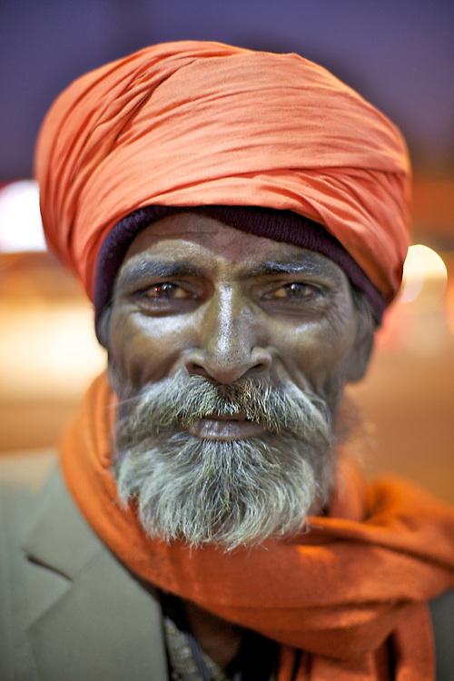 Indian man street portrait.