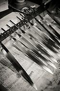 Knives by Yoshikazu Ikeda sharpened by hand, Sakai, Osaka Prefecture, Japan