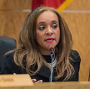 Rhonda Skillern-Jones during a Houston ISD Board of Trustees meeting, January 15, 2015.