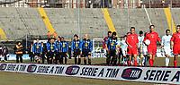 "L'ingresso in campo delle squadre nello stadio vuoto.<br /> <br /> Teams entrance in the empty stadium. Some Italy stadiums were closed for security reasons after last week clashes after Catania Palermo<br /> <br /> Italian ""Serie A"" 2006-2007<br /> <br /> 11 Feb 2007 (Match Day 23)<br /> <br /> Atalanta-Lazio (0-0)<br /> <br /> ""Atleti Azzurri D'Italia"" Stadium-Bergamo-Italy<br /> <br /> Photographer:Jennifer Lorenzini INSIDE"