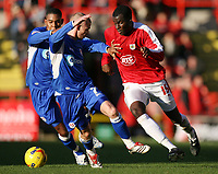Photo: Rich Eaton.<br /> <br /> Bristol City v Millwall. Coca Cola League 1. 16/12/2006. Enoch Showunmi right of Bristol attacks