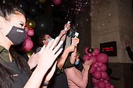 """""""I now officially declare Melbourne Restaurants open for business!"""" Angus and Bon Steakhouse owner declared as he cut the ribbon at midnight during COVID-19 in Melbourne, Australia. Melbourne reopens. From midnight today, retail and hospitality are once again allowed to open their doors with tight restrictions in place. (Photo by Dave Hewison/Speed Media)"""