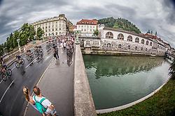 Peloton at Dragon bridge in Ljubljana during Stage 2 of 24th Tour of Slovenia 2017 / Tour de Slovenie from Ljubljana to Ljubljana (169,9 km) cycling race on June 16, 2017 in Slovenia. Photo by Vid Ponikvar / Sportida