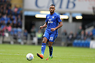 Loic Damour of Cardiff City in action. EFL Skybet championship match, Cardiff city v Derby County at the Cardiff city stadium in Cardiff, South Wales on Saturday 30th September 2017.<br /> pic by Andrew Orchard, Andrew Orchard sports photography.