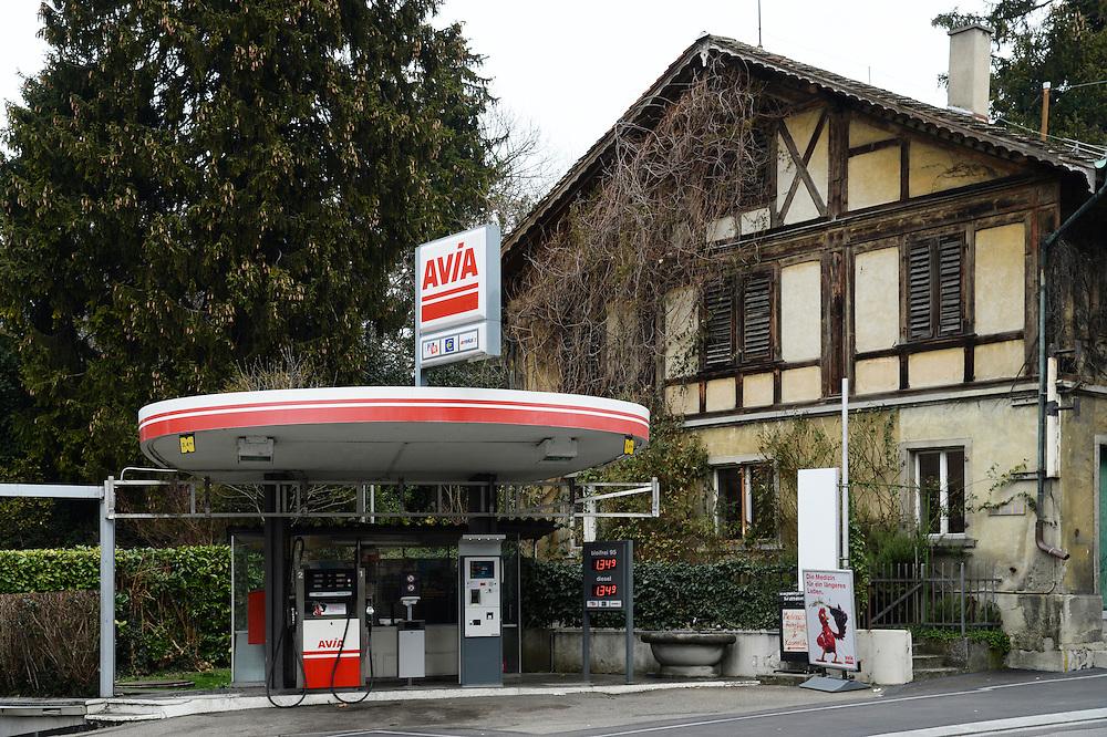 28.02.2016; Zuerich; Tankstelle an der Kreuzstrasse<br /> (Steffen Schmidt)