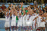 German lift the 2014 FIFA World Cup at Maracana Stadium, Rio de Janeiro<br /> Picture by Andrew Tobin/Focus Images Ltd +44 7710 761829<br /> 13/07/2014