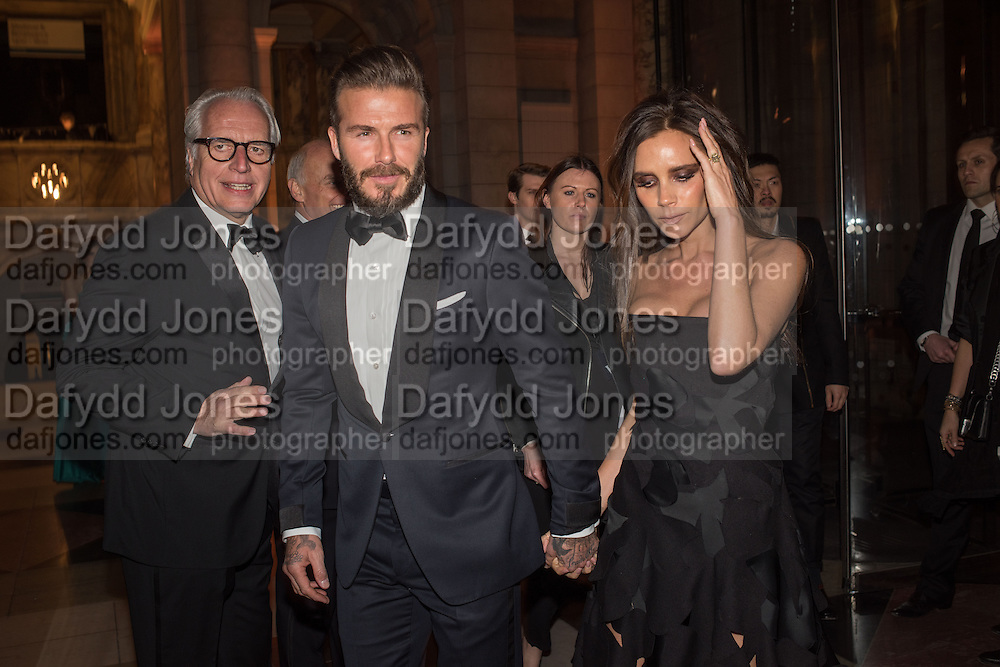 MARTIN ROTH; DAVID BECKHAM; VICTORIA BECKHAM, Alexander McQueen: Savage Beauty Gala, Victoria and Albert Museum, and A. 12th March 2015