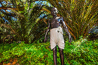 Bronze statue of Mahatma Gandhi by Anton Momberg, Belmond Mount Nelson Hotel, Cape Town, South Africa.
