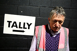 A Vote No campaigner at the count centre in Dublin's RDS as votes are counted in the referendum on the 8th Amendment of the Irish Constitution which prohibits abortions unless a mother's life is in danger. Picture date: Saturday May 26, 2018. See PA story IRISH Abortion. Photo credit should read: Brian Lawless/PA Wire