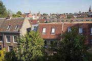 View over rooftops historic buildings, Utrecht, Netherlands