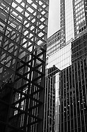 New York - buildings reflection on 42nd street.  United states / reflets des buildings sur la 42 me rue. New York  Etats-unis