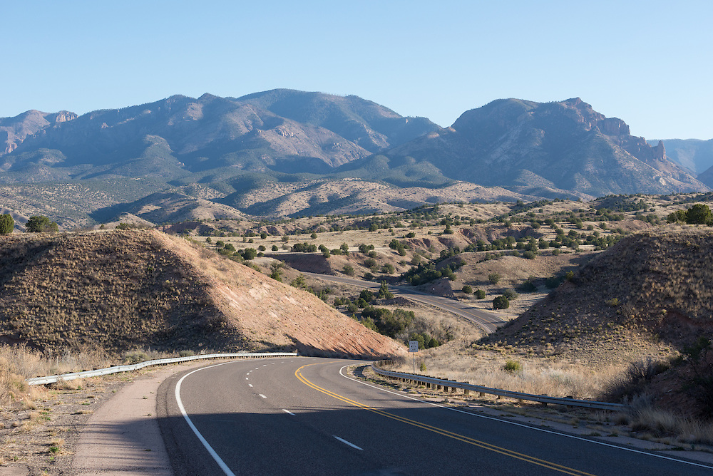 Scenic Highway 180  in Gila National Forest, New Mexico.