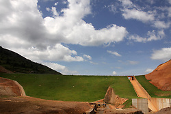 RULINDO (RWANDA), March 15, 2018  Photo taken on Feb. 16, 2018 shows a view of Muyanza Dam built by China Geo-Engineering Corporation (CGC) in Rulindo District, Northern Province of Rwanda. The recently completed Muyanza Dam is the second highest in Rwanda and the country's highest and largest earth fill dam in the agriculture sector. It will benefit farmers and help grow crops for exports, a Rwandan official said on Thursday. (Credit Image: © Cgc/Xinhua via ZUMA Wire)
