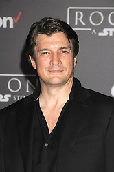 December 10, 2016 - Los Angeles, California, United States - December 10th 2016 - Los Angeles California USA - Actor NATHAN FILLION    at the World Premiere for ''Rogue One Star Wars'' held at the Pantages Theater, Hollywood, Los Angeles  CA (Credit Image: © Paul Fenton via ZUMA Wire)