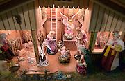 Nederland, Nijmegen, 2-12-2012Een kerststal van hout.Foto: Flip Franssen/Hollandse Hoogte