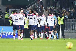 January 20, 2019 - Saint Etienne, France, FRANCE - joie des joueurs de Lyon apres le but de DEMBELE Moussa  (Credit Image: © Panoramic via ZUMA Press)