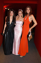 """Left to right, PRINCESS TAMARA CZARTORYSKI-BOURBON , MISS ANOUSHKA DE GEORGIOU and MISS HENRIETTA DUPS at the 10th annual British Red Cross London Ball.  This years ball theme was Indian based - """"Yaksha - Yakshi: Doorkeepers to the Divine"""" and was held at The Room, Upper Ground, London on 1st December 2004.  Proceeds from the ball will aid vital humanitarian work, including HIV/AIDS projects that the Red Cross supports in the UK and overseas.<br /><br />NON EXCLUSIVE - WORLD RIGHTS"""