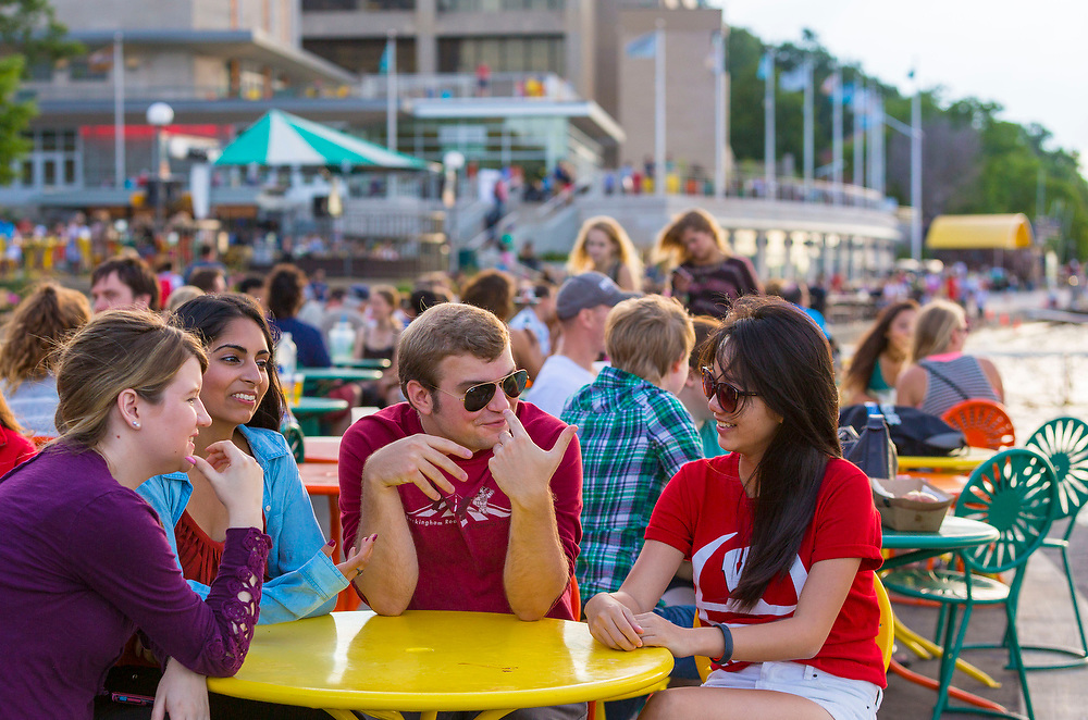 Memorial Union Terrace at the University of Wisconsin-Madison. (Photo @ Andy Manis)