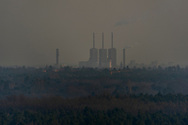 A view on power station Berlin-Wilmersdorf from the Drachenberg in Grünewald, Berlin 2018.