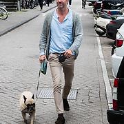 NLD/Amsterdam/20150602 - Talkies Terras award 2016, Jos Raak met zijn hondje