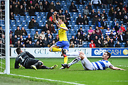 Leeds United Defender Aapo Halme (52) scores a goal (1-1) during the The FA Cup match between Queens Park Rangers and Leeds United at the Loftus Road Stadium, London, England on 6 January 2019.